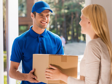 Entregas de paquetes <br> compra online